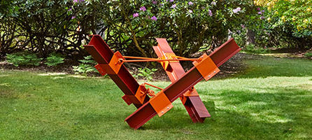 Tri-ped II: Girders at Contemporary Sculpture Fulmer